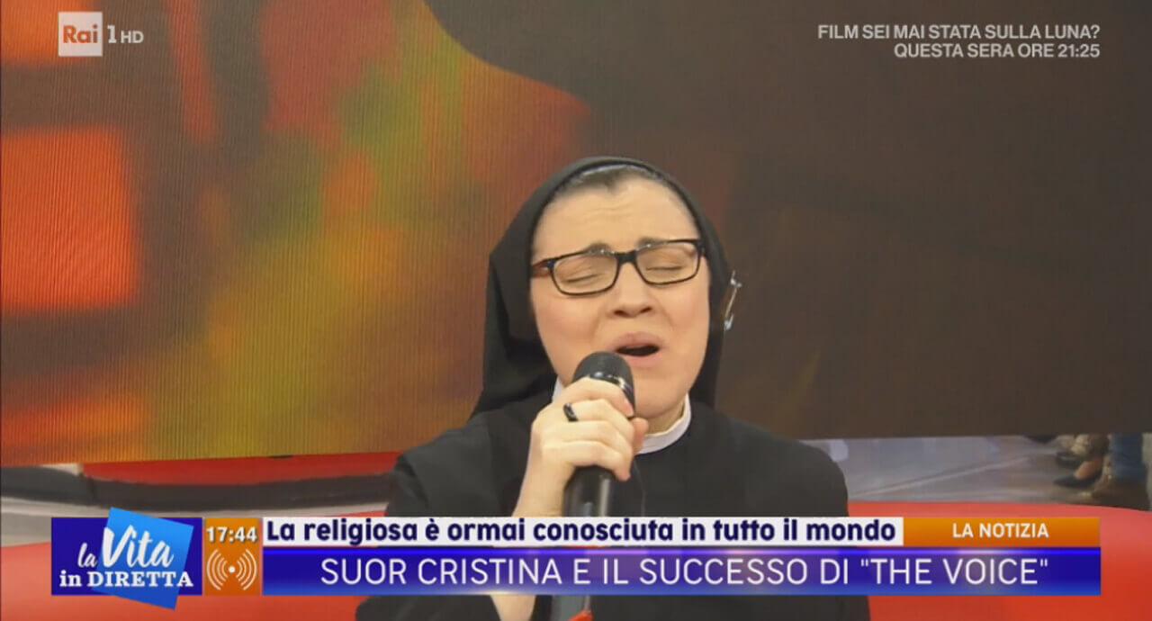 Suor Cristina, La Vita in Diretta