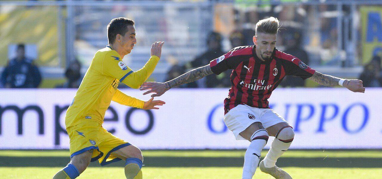 Castillejo Milan Frosinone lapresse 2019