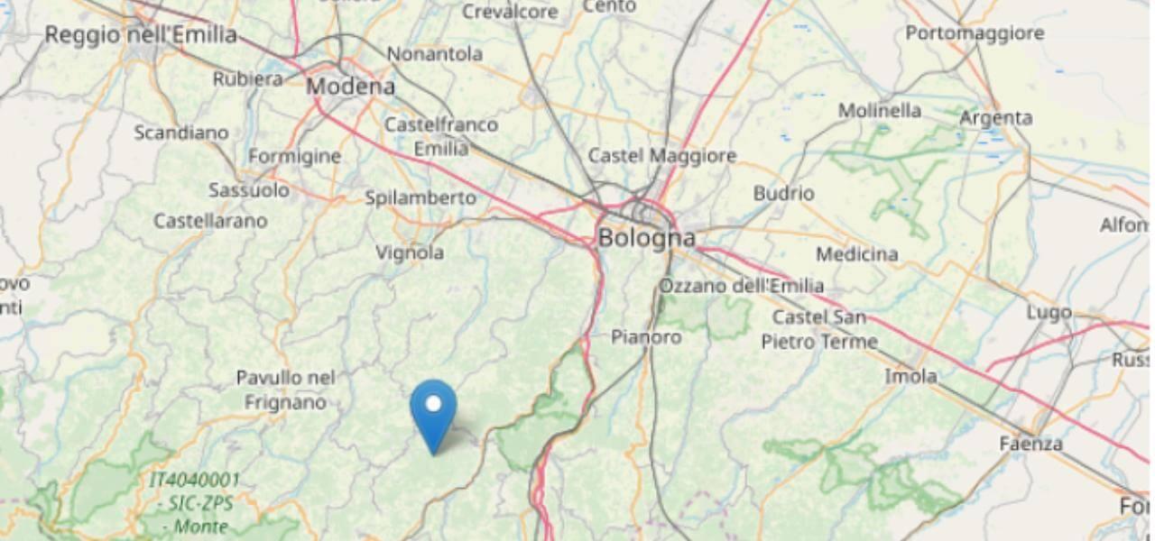 Terremoto oggi a Bologna