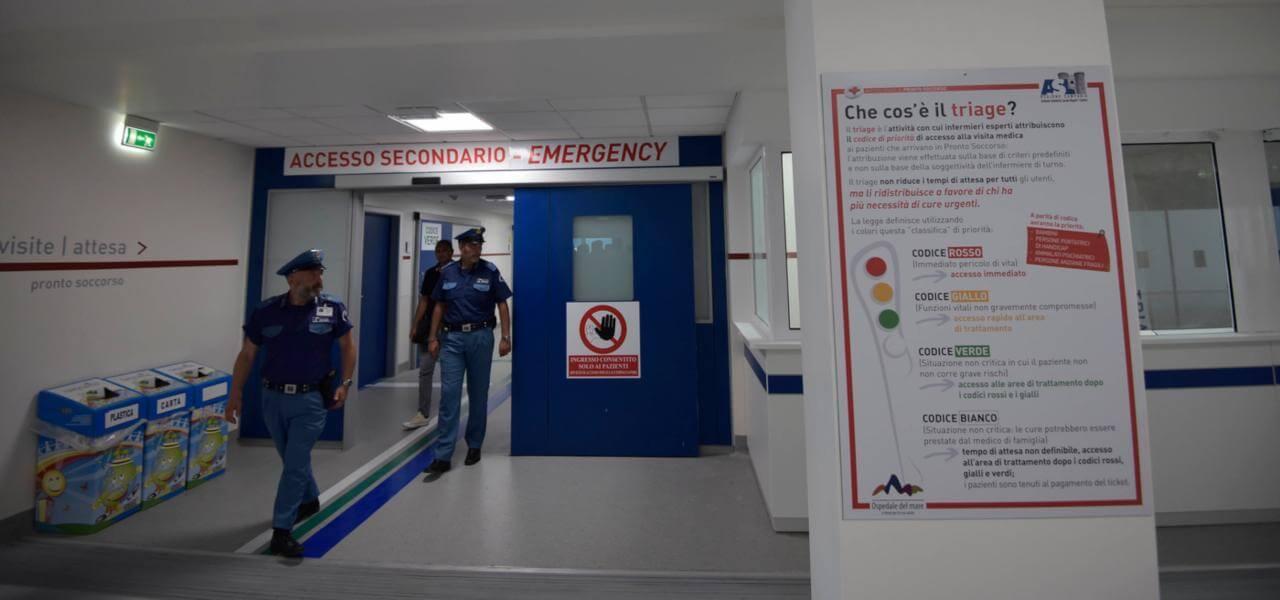 Polizia in ospedale