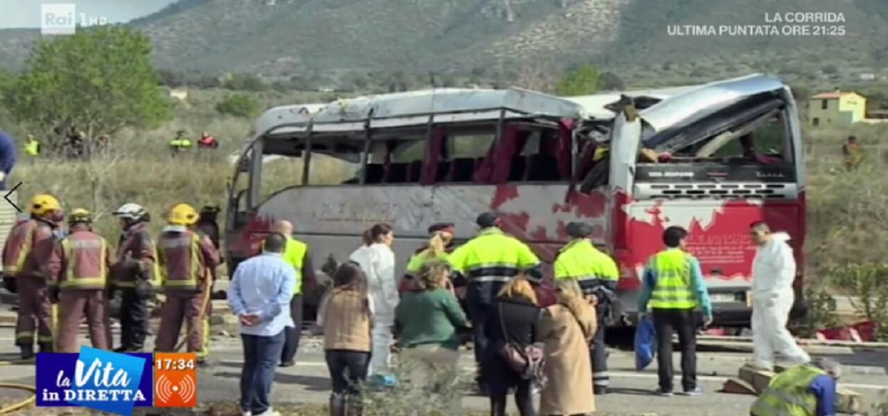 Strage bus Erasmus (La vita in diretta)