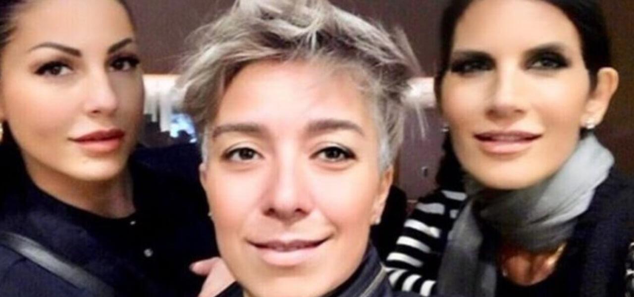 Pamela Perricciolo con Eliana Michelazzo e Pamela Prati