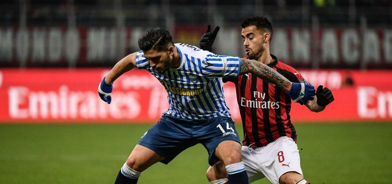 Bonifazi Suso Spal Milan lapresse 2019