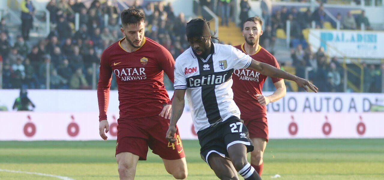 Gervinho Manolas Parma Roma lapresse 2019