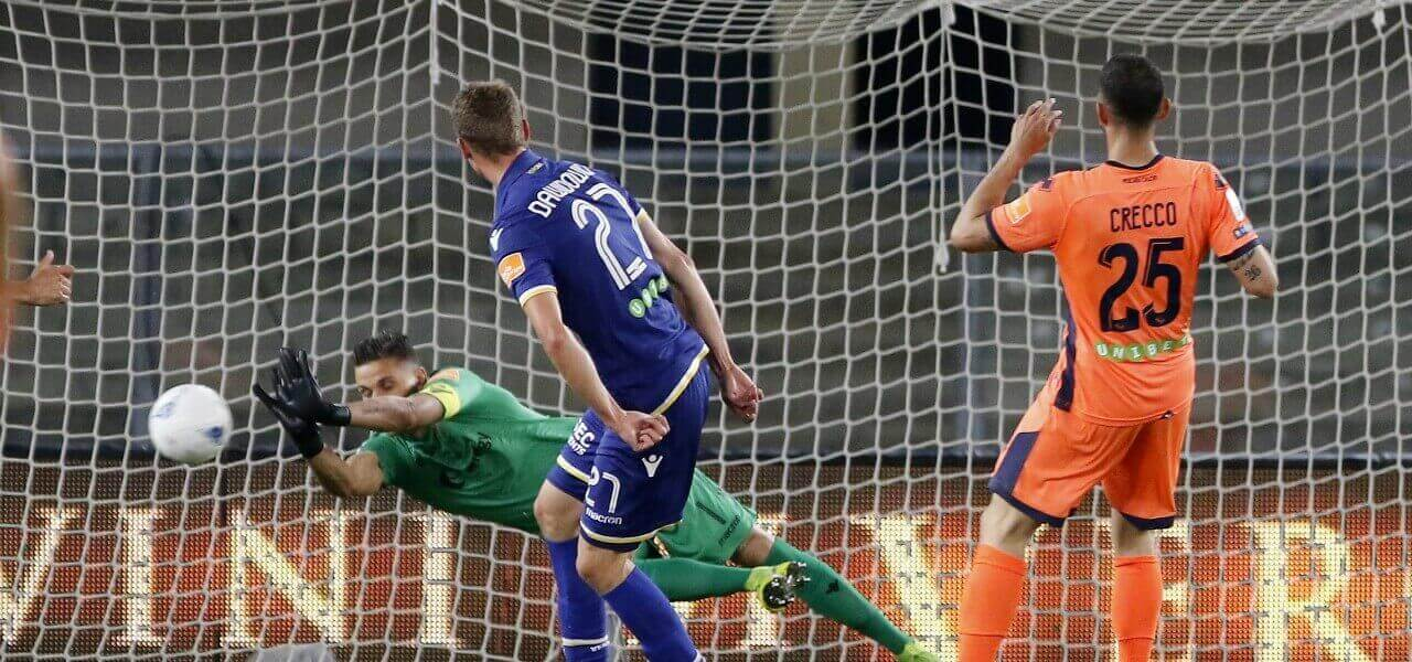 Silvestri parata Dawidowicz Verona Pescara lapresse 2019
