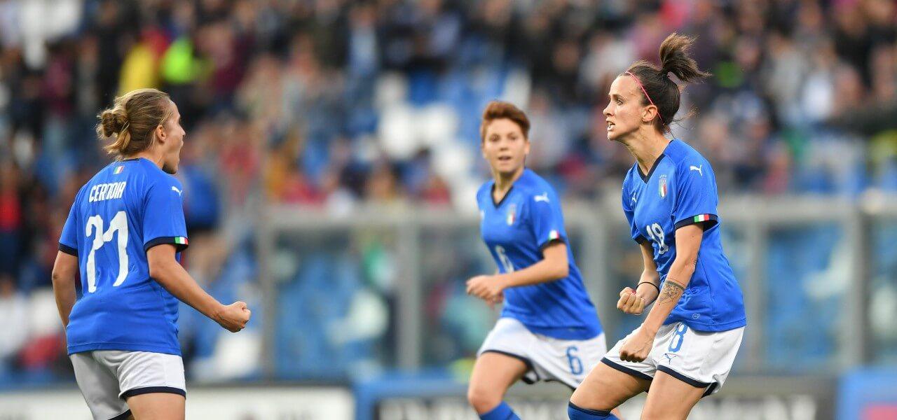 Bonansea Cernoia Giugliano Italia donne lapresse 2019