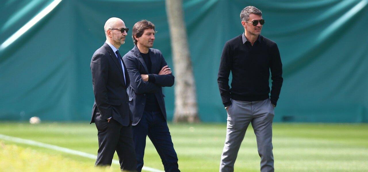 Gazidis Leonardo Maldini Milan lapresse 2019