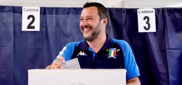 Salvini vota alle Europee