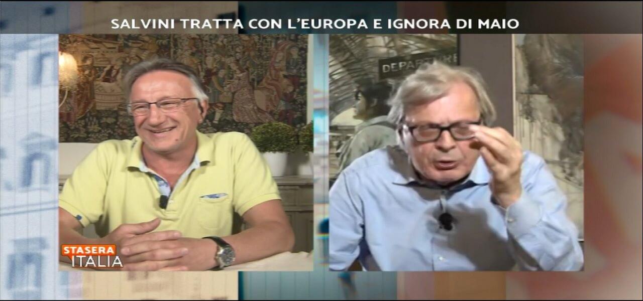 vittorio sgarbi michele boldrin stasera italia
