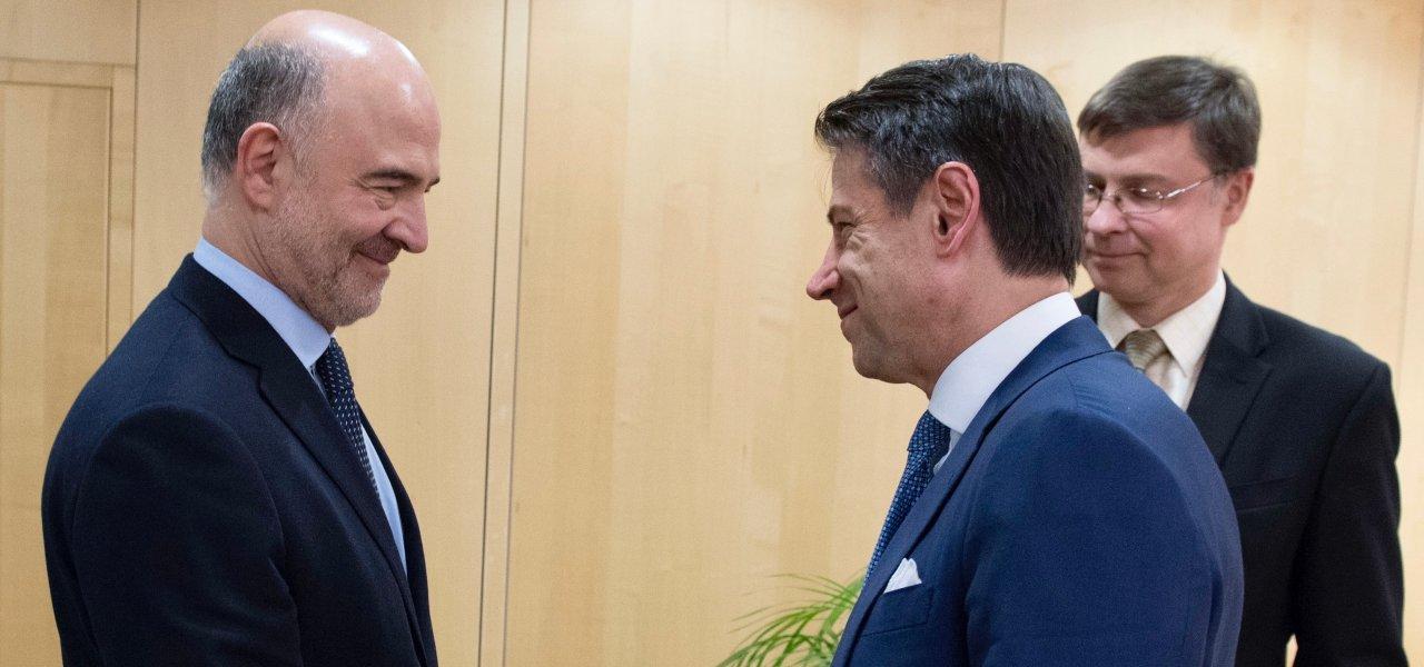 Conte, Moscovici e Dombrovkis