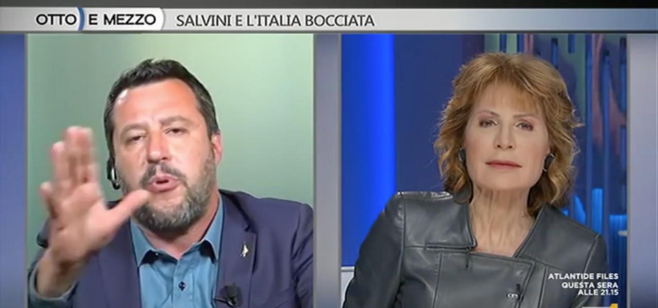 Salvini e Lilli Gruber a Otto e Mezzo