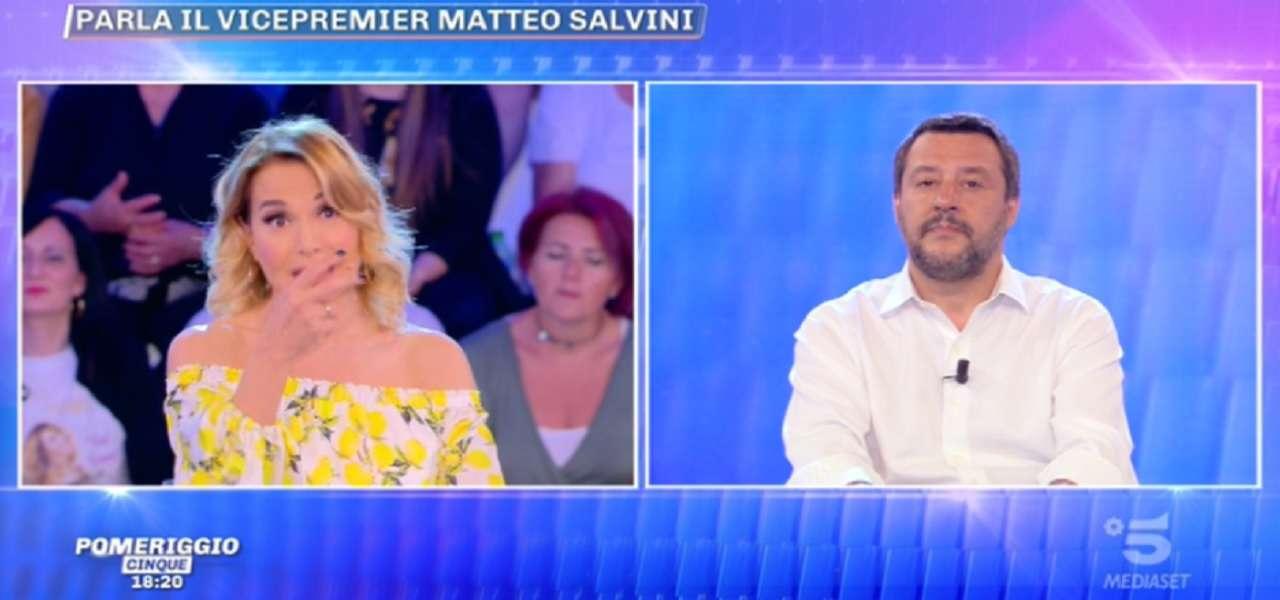 Matteo Salvini a Pomeriggio 5