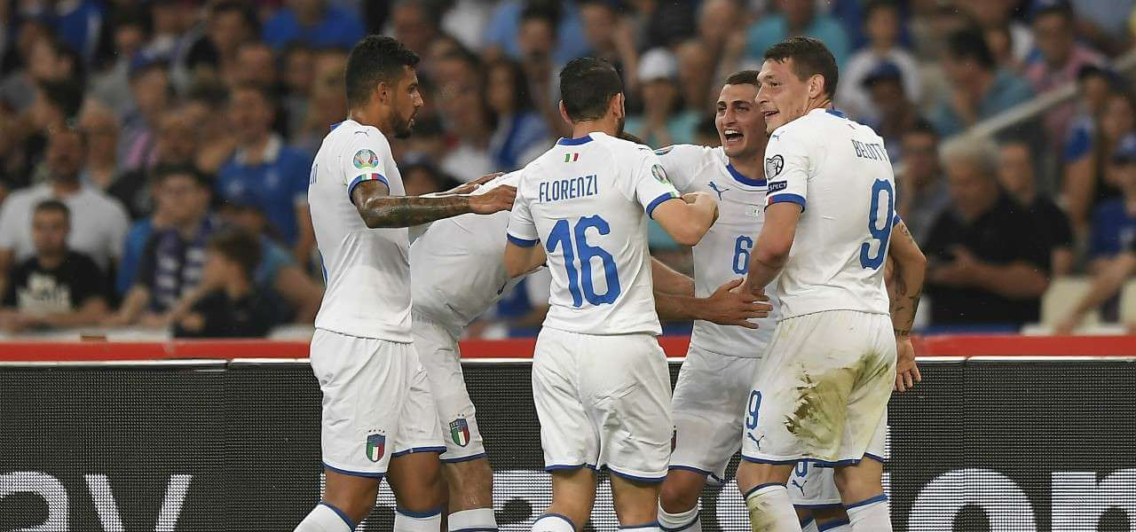 Belotti Florenzi Verratti Italia gol lapresse 2019