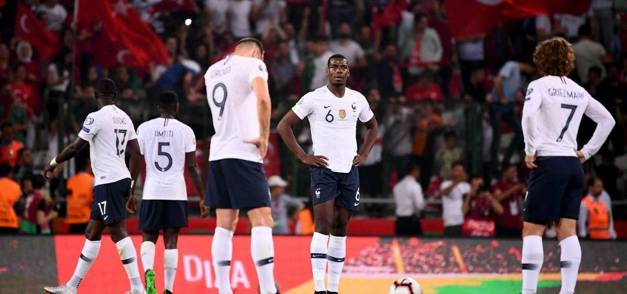 Giroud Pogba Griezmann Francia delusione lapresse 2019
