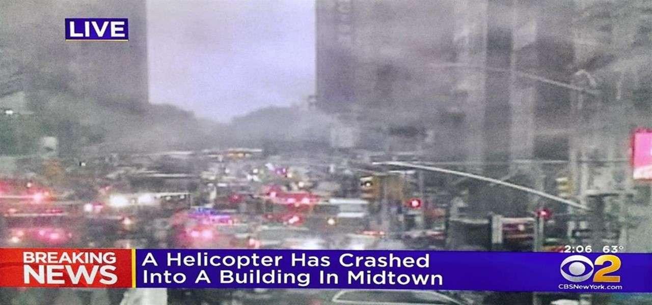 elicottero contro palazzo new york