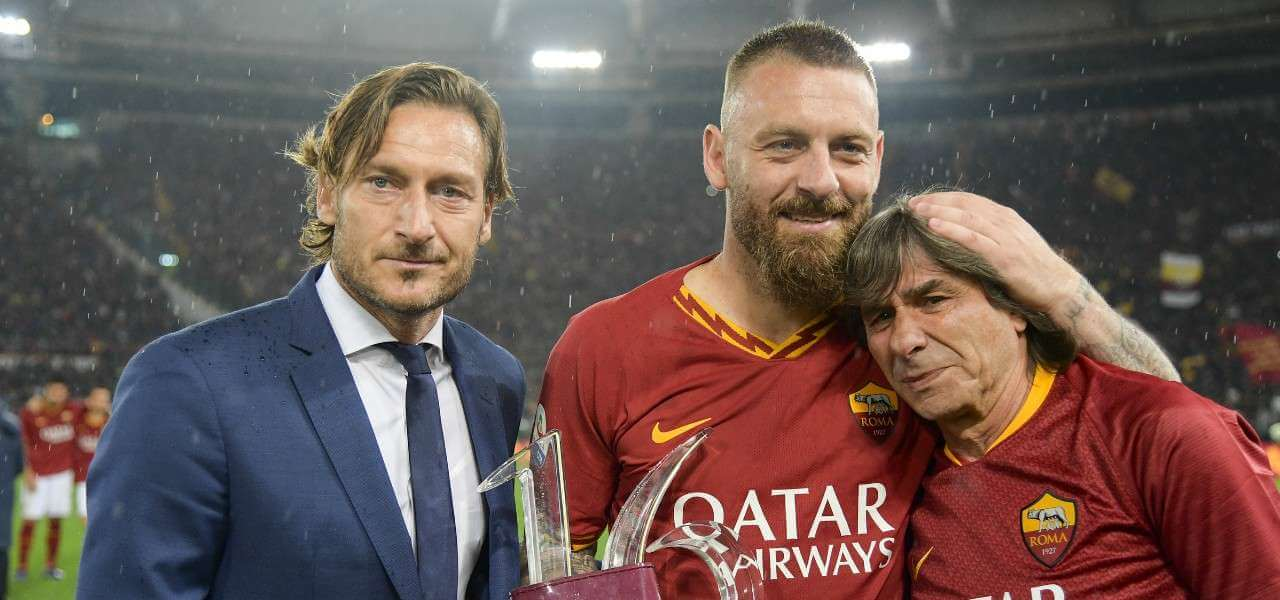 Totti DeRossi Conti Roma lapresse 2019