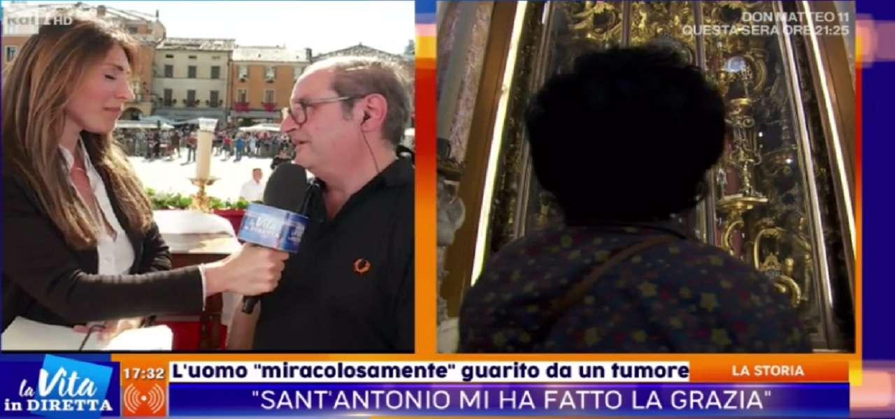 """Uomo """"miracolato da Sant'Antonio"""