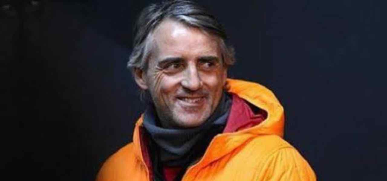 Roberto Mancini a Ballata per Genova