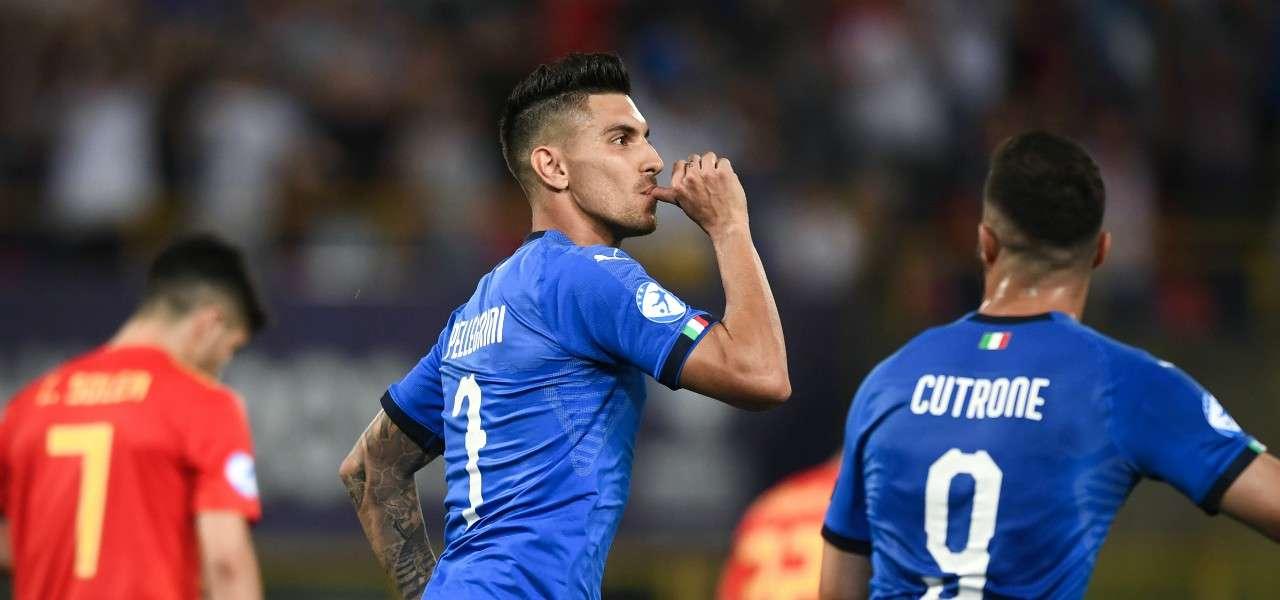 Lorenzo Pellegrini Cutrone Italia Under 21 gol lapresse 2019