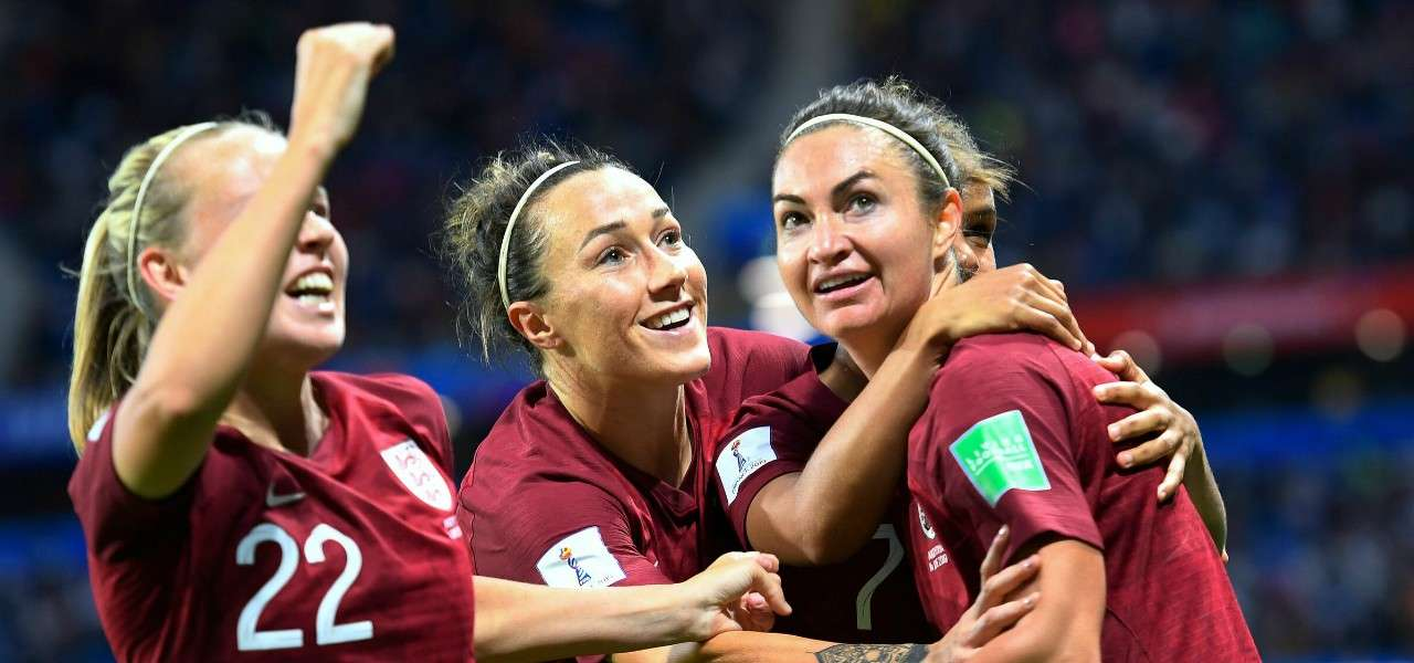 Inghilterra femminile gol esultanza lapresse 2019