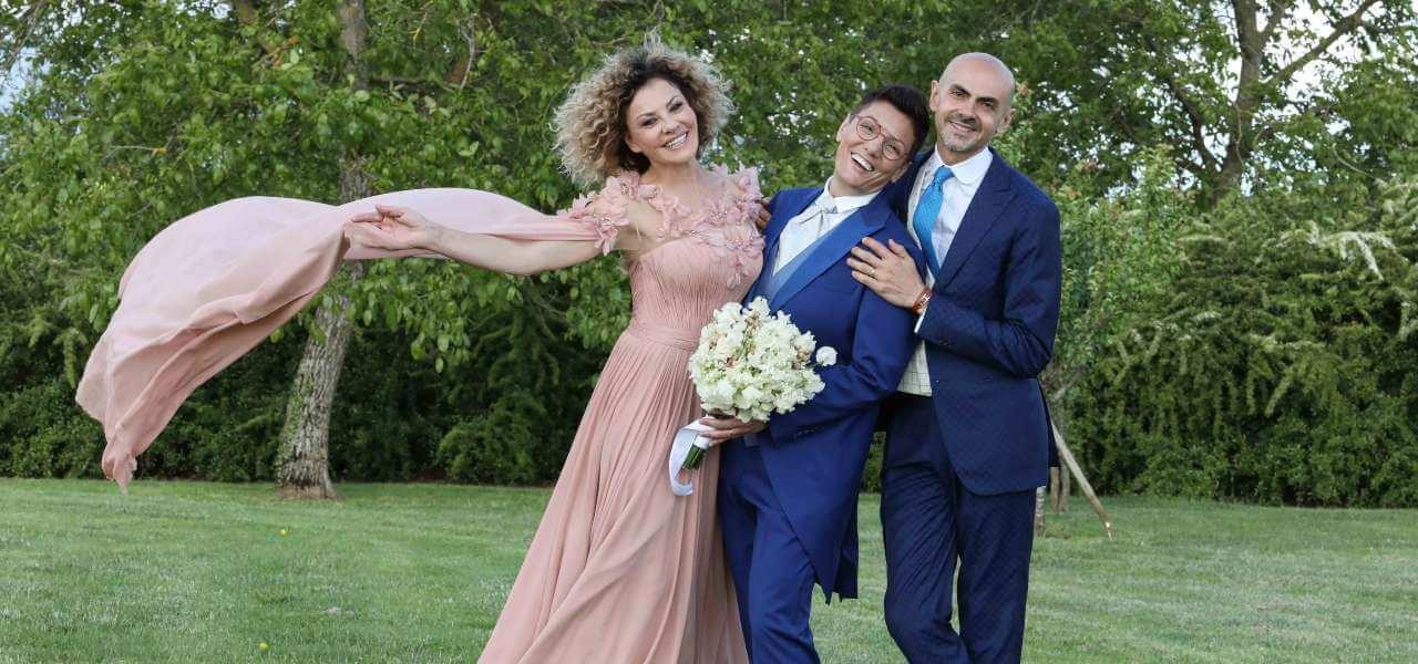 Il matrimonio di Eva Grimaldi e Imma Battaglia