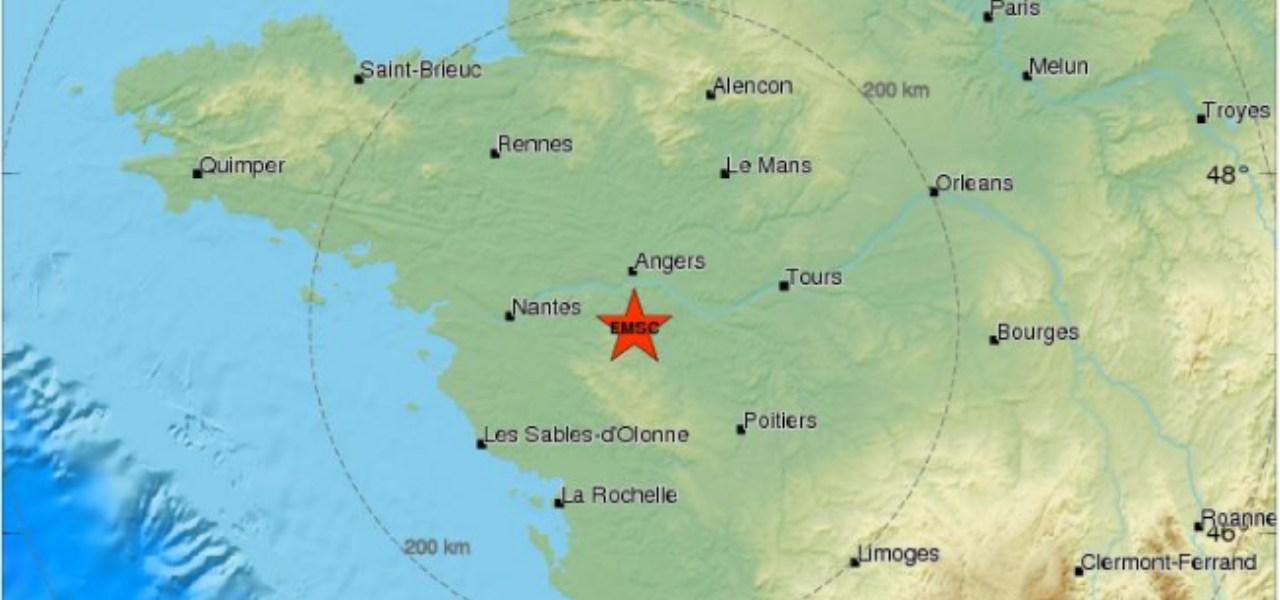 Nantes Cartina Francia.Terremoto Francia Magnitudo 5 2 Nessun Danno Tipo Di Sisma