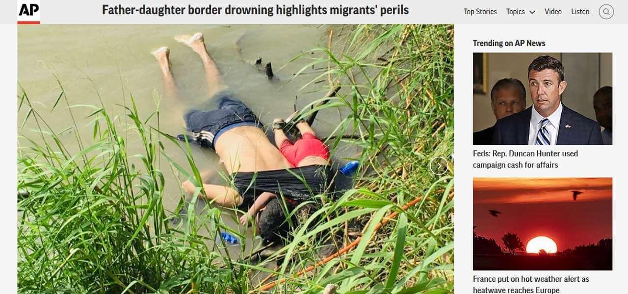 Padre e figlia di 2 anni morti annegati nel Rio Grande aylan