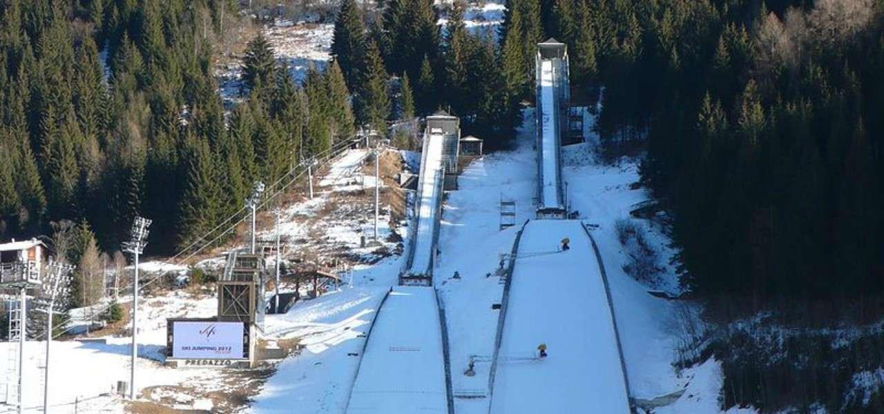 stadio trampolino salto sci predazzo olimpiadi 2026