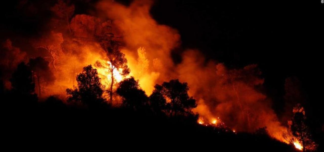 Incendio in Catalogna