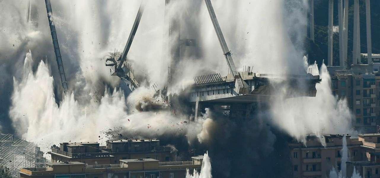 ponte morandi esplosione demolizione 1 lapresse1280