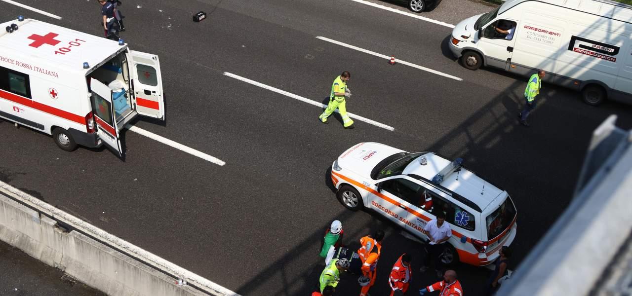 Ambulanza in autostrada