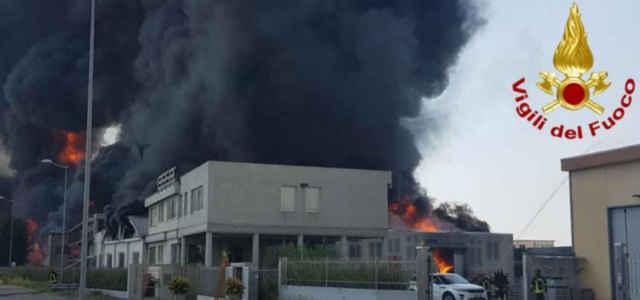 Incendio a Vicenza