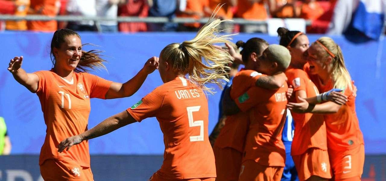 Olanda femminile esultanza lapresse 2019