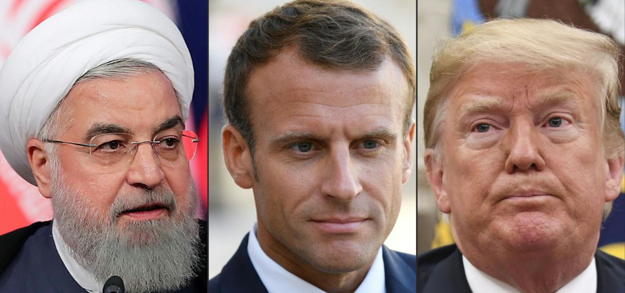 Rohani, Macron e Trump