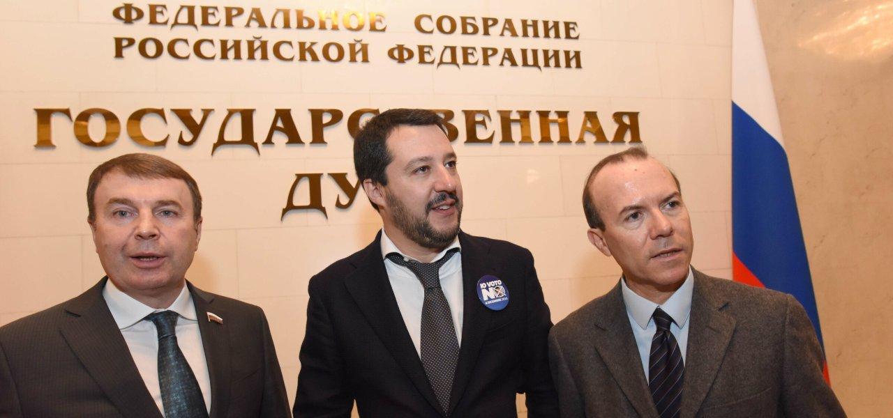 Salvini e Savoini in Russia