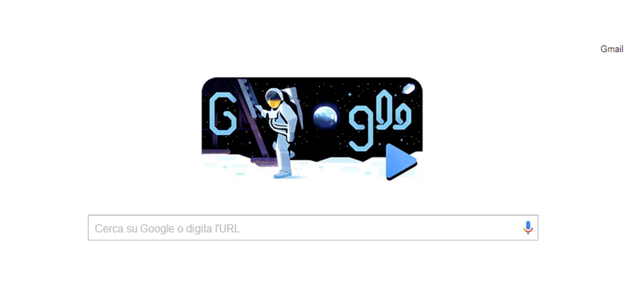 Il Doodle di Google per la Luna (50°esimo anniversari)
