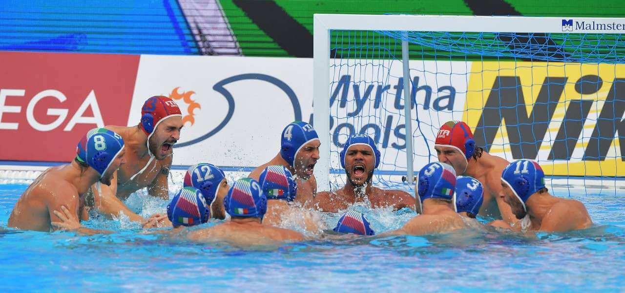Italia pallanuoto vittoria lapresse 2019