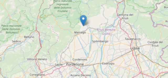 Terremoto oggi a Pordenone