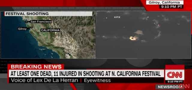sparatoria california