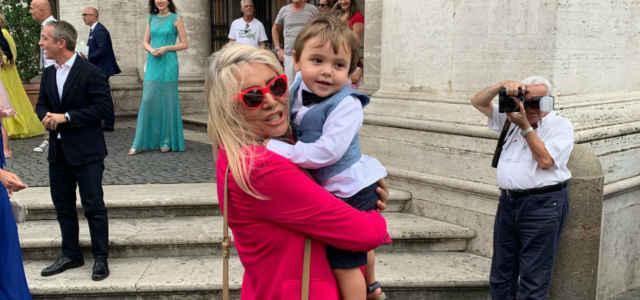 Mara Venier e il nipotino