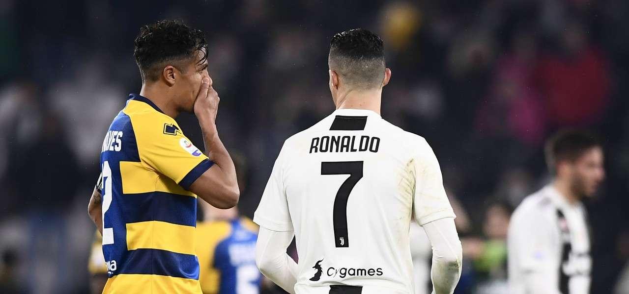 Bruno Alves Cristiano Ronaldo Parma Juventus lapresse 2019