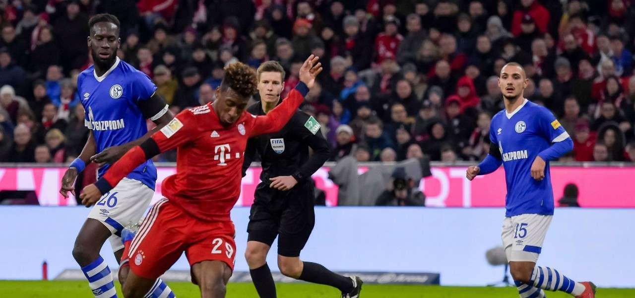 Coman tiro Bayern Schalke lapresse 2019