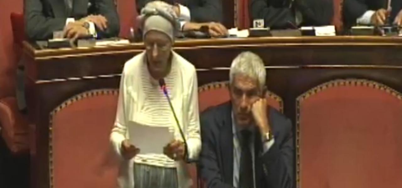 Emma Bonino al Senato