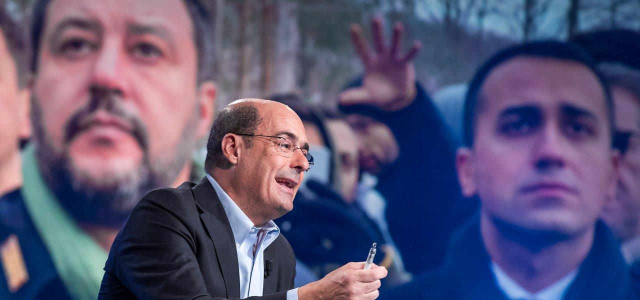 Zingaretti, Salvini e Di Maio