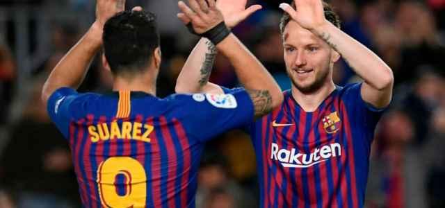 Suarez e Rakitic Barcellona