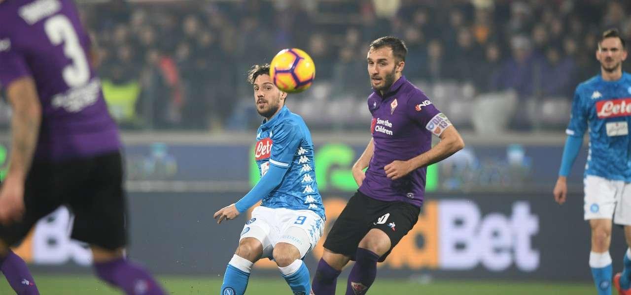Verdi Pezzella Napoli Fiorentina lapresse 2019