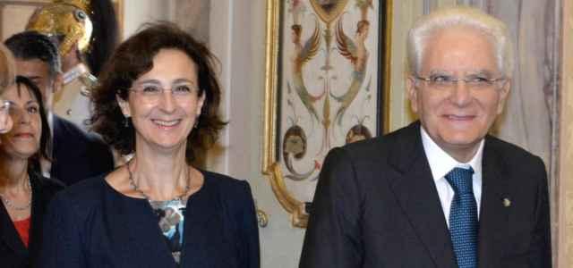 Marta Cartabia e Sergio Mattarella