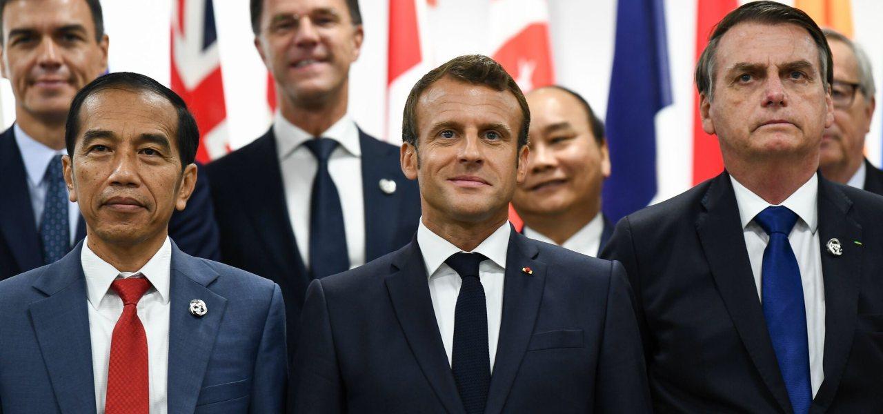 Macron e Bolsonaro