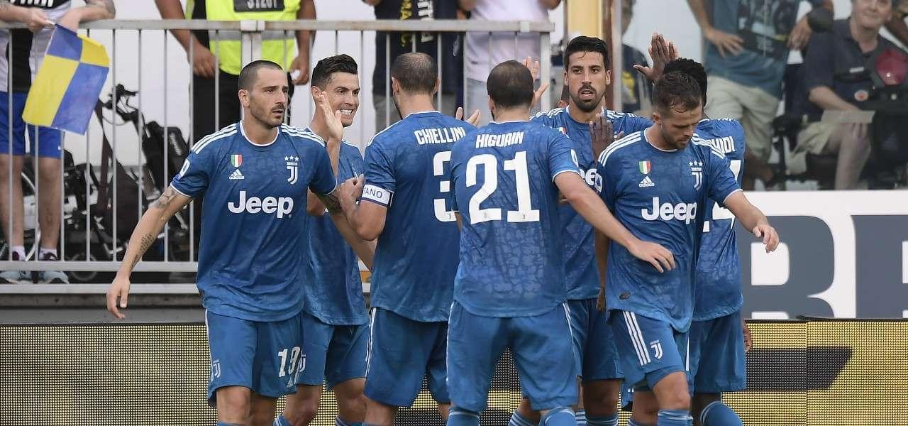 Juventus gol blu gruppo lapresse 2019