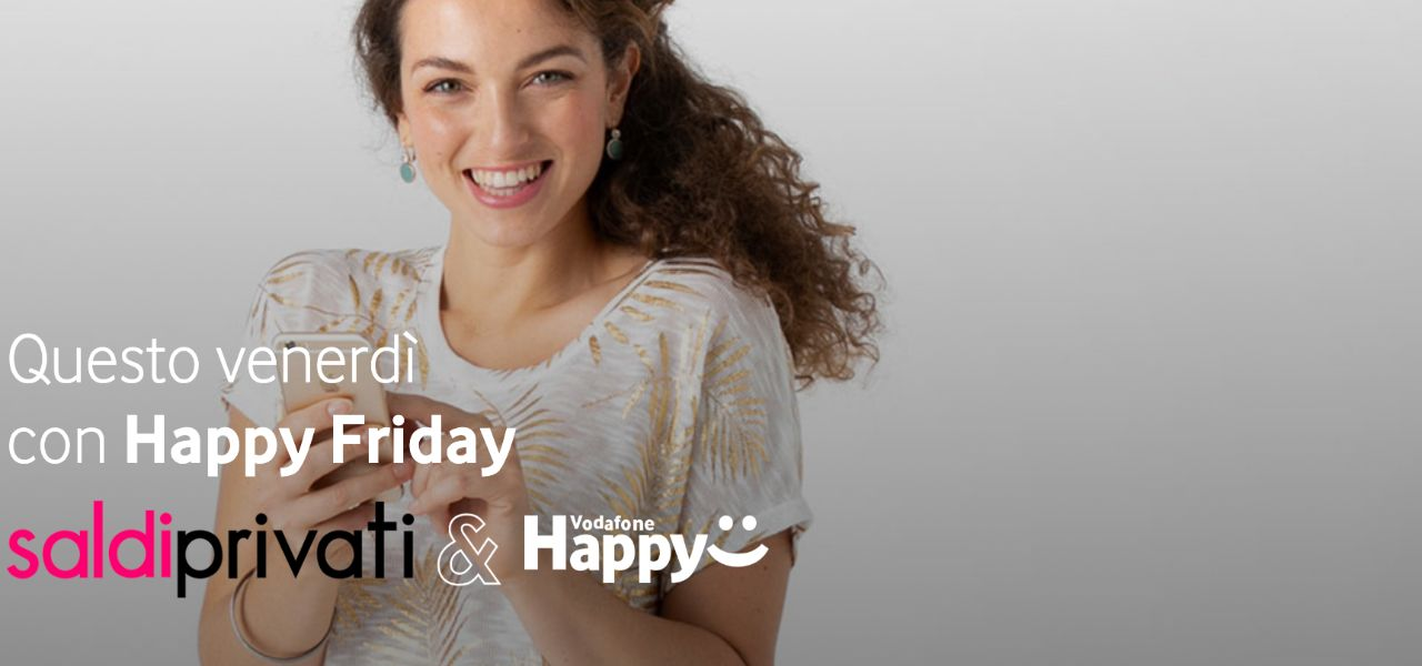 vodafone happy friday saldi privati